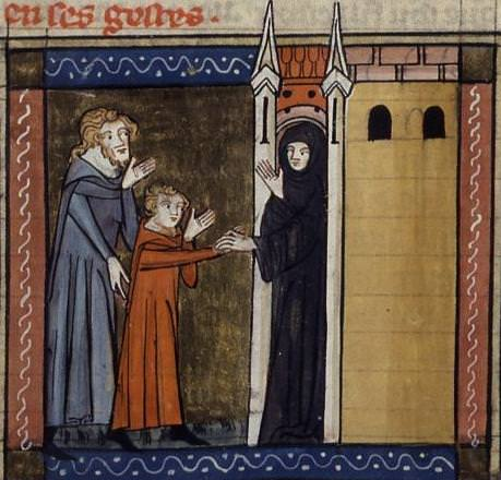 St. Mary of Alexandria, died 508, accompanied her father to a monastery and adopted a monk's habit as a disguise.