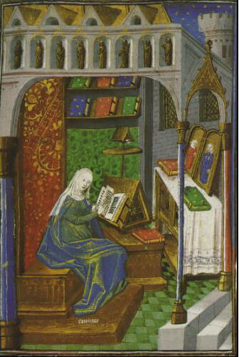 medieval woman reading