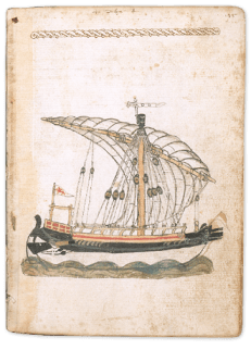 Venetian ship drawn by Michael of Rhodes