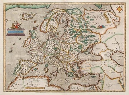 Map of Europe from the late 16th century