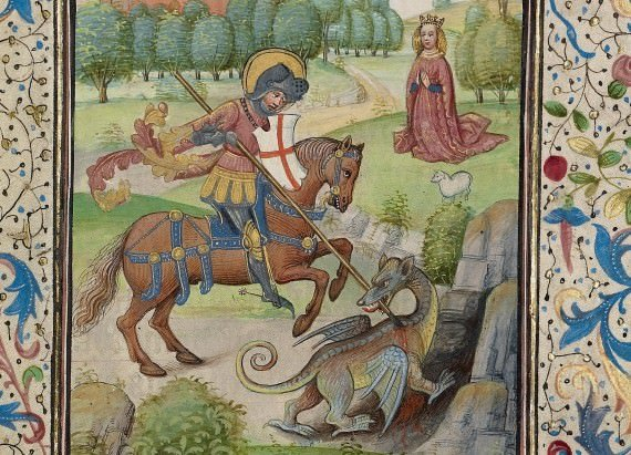 Saint George and the Dragon, by Willem Vrelant - 15th century