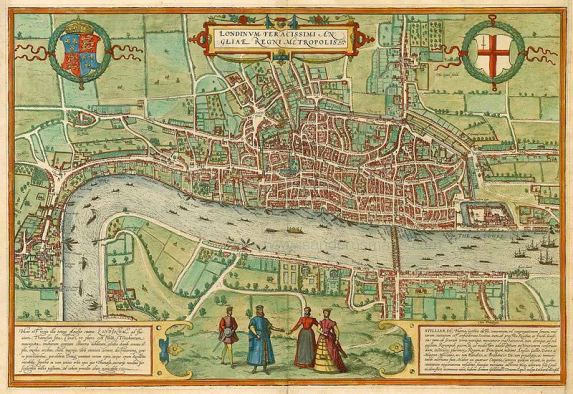 17th century map of London