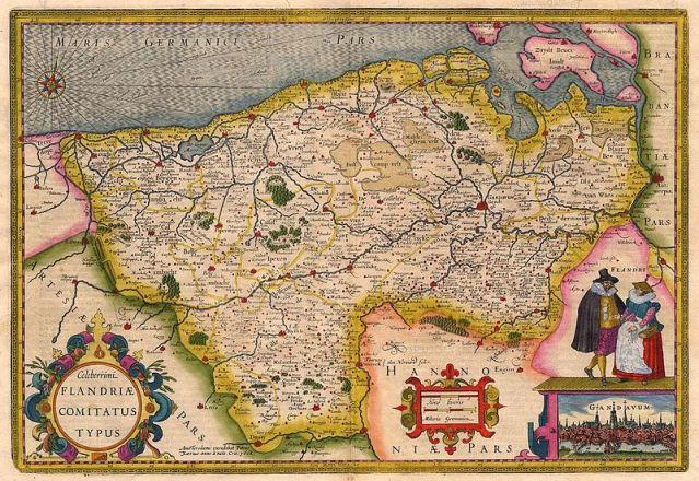 17th century maps of Flanders - Kaart van het graafschap Vlaanderen