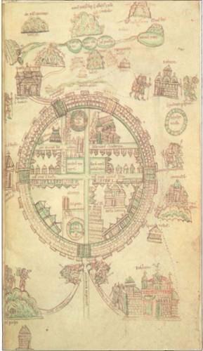 Crusader Map of Jerusalem