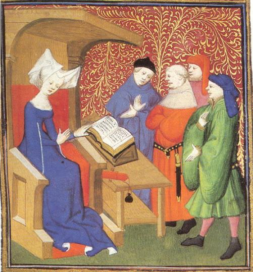 Christine de Pizan lecturing men