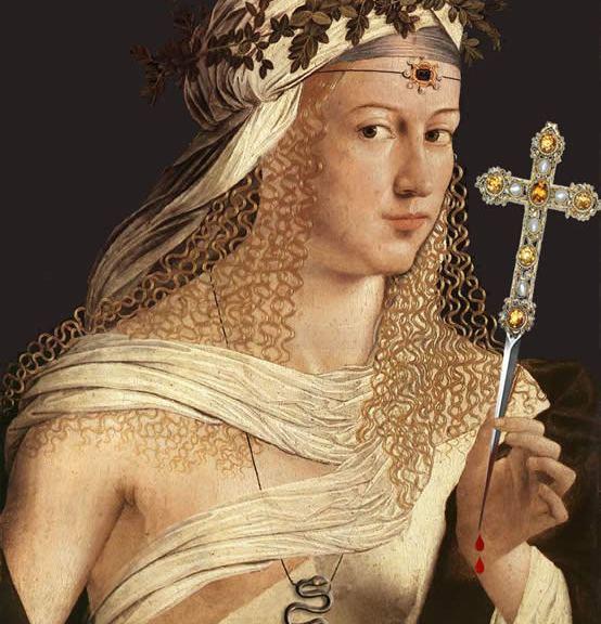 Lucrezia Borgia - 'Flora' Bartolomeo Veneto (1515).