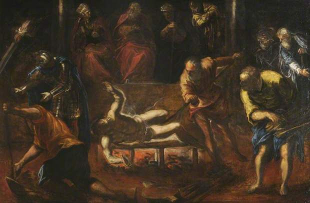 Tintoretto's - The Martyrdom of St. Lawrence of Rome