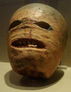 celtic halloween - A traditional Irish turnip Jack-o'-lantern from the early 20th century. Photographed at the Museum of Country Life, Ireland.
