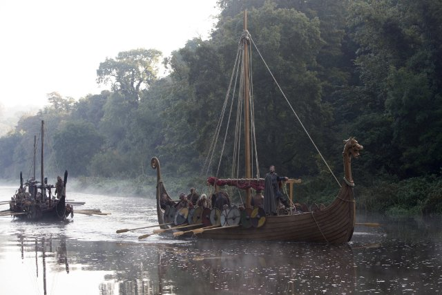 """Viking ship from the HISTORy channel programme, """"Vikings"""""""