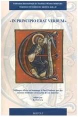 """""""In principio erat verbum"""": Mélanges offerts en hommage à Paul Tombeur par des anciens étudiants à l'occasion de son éméritat."""