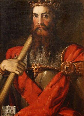 Portrait of Totila by Francesco Salviati (16th c)