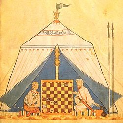 Ibn Jubayr - Mulim and Christian playing chess