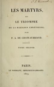 Chateaubriand Les Martyrs