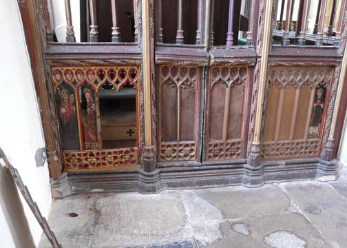 Holy Trinity Church Damaged Panels - photo courtesy Churches Conservation Trust