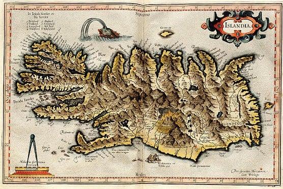 Iceland by Gerhard Mercator