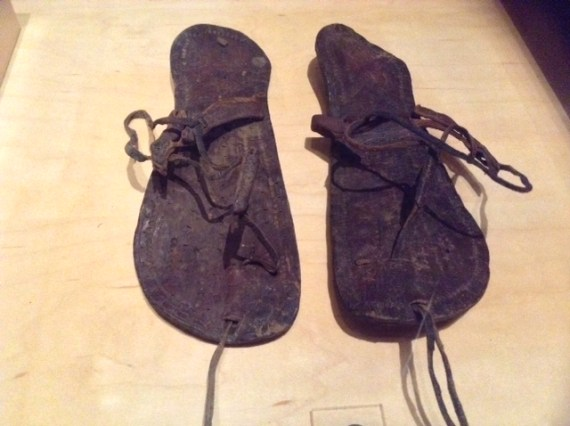 These leather sandals were used in Early Medieval Egypt, dating between the year 400-600 AD