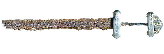 Sword, late 8th–early 9th century. Kalundborg or Holbæk, Zealand, Denmark. Photo: Arnold Mikkelsen. © The National Museum of Denmark