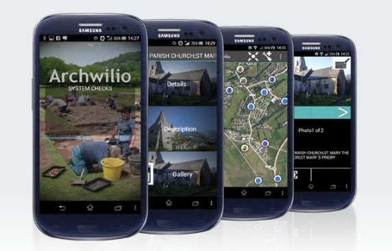 archwilio app - photo courtesy Centre of Excellence in Mobile Applications and Services