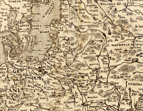 Map of Europe, drawing of c. 1570