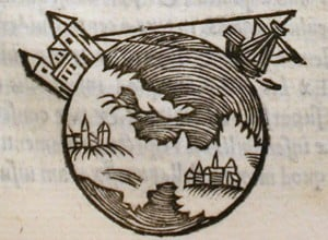 Picture from a 1550 edition of On the Sphere of the World, the most influential astronomy textbook of 13th-century Europe.