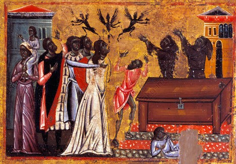 Saint Francis drives away demons
