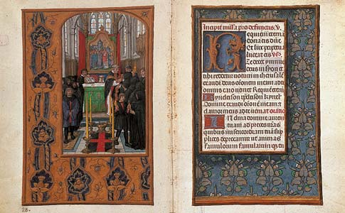 Opening from the Rothschild Prayerbook.