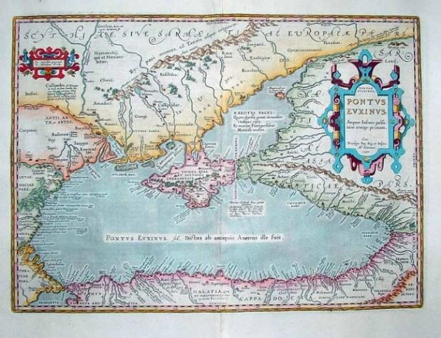 17th century map of the Black Sea region