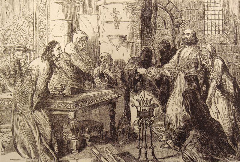 Interrogation Of Jacques De Molay - 19th century image