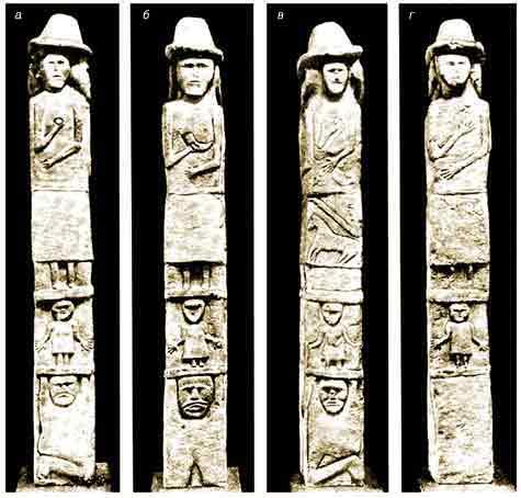 slavic gods on the Zbruch idol
