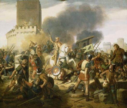 Siege of Paris 885-886. Jean-Pierre Franque (1774–1860) WikiCommons.