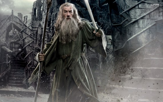 "Gandalf in the ""Hobbit: The Desolation of Smaug"", played by Ian McKellen."