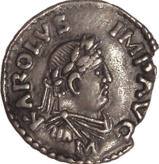 Charlemagne as emperor on this coin - Photo PHGCOM