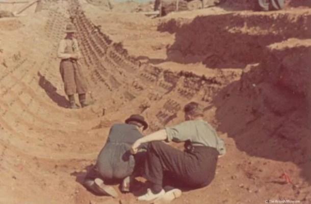 Sutton Hoo excavation - 1939