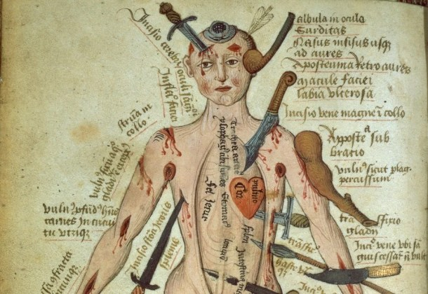wound man - Medieval Images of the Human Body