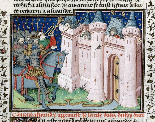 Image result for Medieval Manuscript walls of troy
