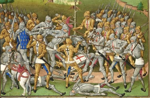 Combat des Trente: an illumination in the Compillation des cronicques et ystoires des Bretons (1480), of Pierre Le Baud.