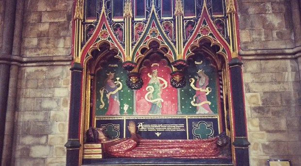 Poet John Gower's tomb at Southwark Cathedral