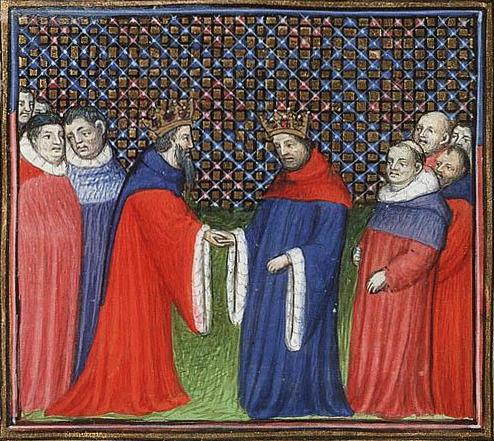 David Bruce, king of Scotland, acknowledges Edward III as his feudal lord