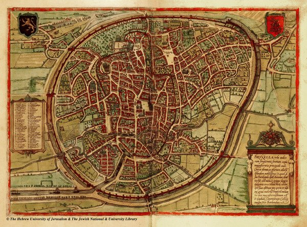Medieval Brussels Map