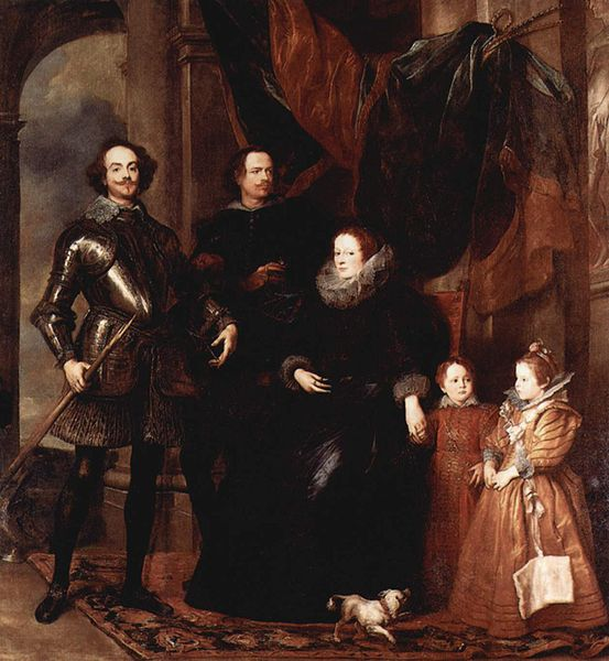 Portrait by Anthony van Dyck of the Lomellini family in Genoa, 1623