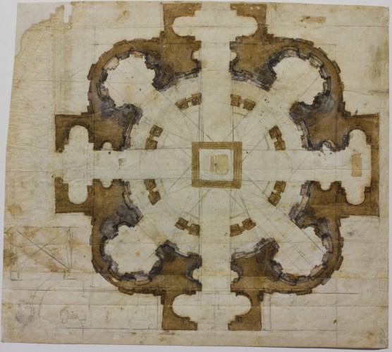 Michelangelo - Plan for the Church of San Giovanni dei Fiorentini in Rome