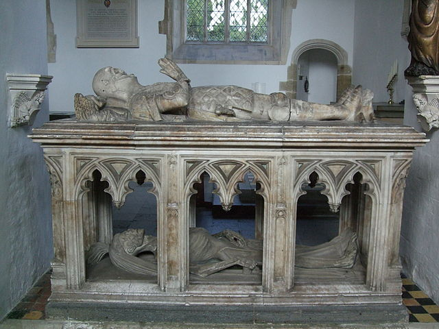 Burial effigy of John FitzAlan, 14th Earl of Arundel, at Arundel Castle chapel - photo by Lampman/Wikicommons