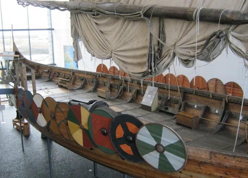 Viking ship at the Vikingsheimar Museum - Iceland