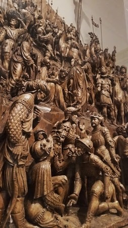 Altarpiece of the Crucifixion, 1527-1533. Lombardy, Italy. By Giovanni Angelo del Maino and Tiburzio.