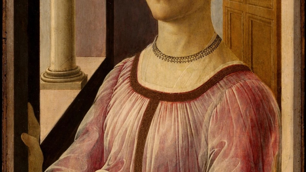 Portrait of a Lady known as Smeralda Brandini (1471) by Botticelli