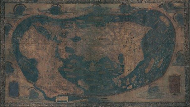 Martellus Map - photo courtesy Yale / Beinecke