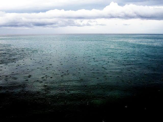 Issy Witcomb - Rainfall on Adriatic Sea, Croatia