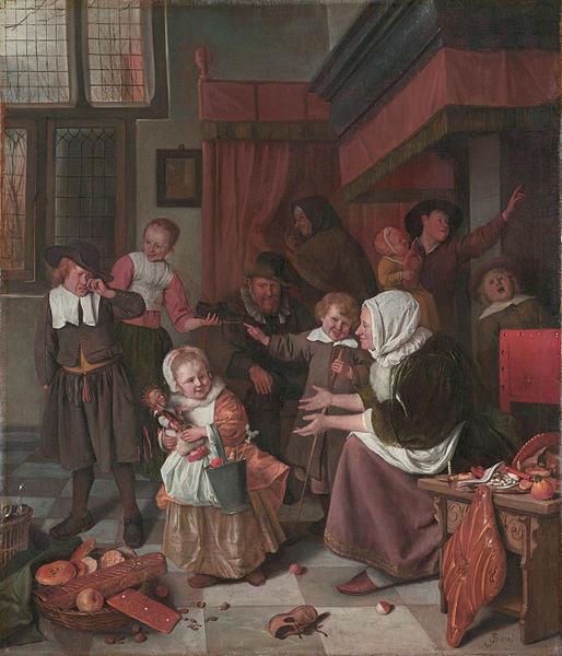 The Feast of Saint Nicholas, by Jan Steen, 1660s