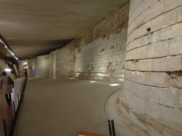 Medieval foundations at the Louvre. Photo by Danielle Trynoski