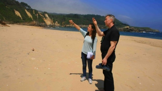 Dr Irene García Losquiño and Dr Jan Henrik Fallgren on a possible Viking archaeological site in northern Spain - photo courtesy University of Aberdeen